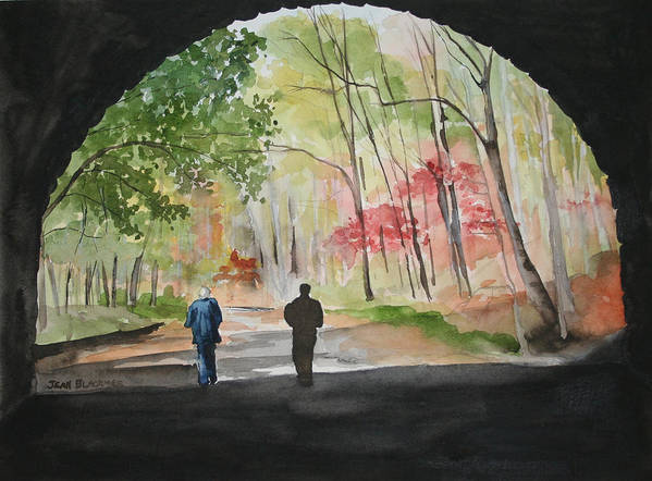 Road Art Print featuring the painting On The Road To Nowhere by Jean Blackmer