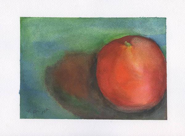 Orange Still Life Art Print featuring the painting Orange Still Life by Frank Bright