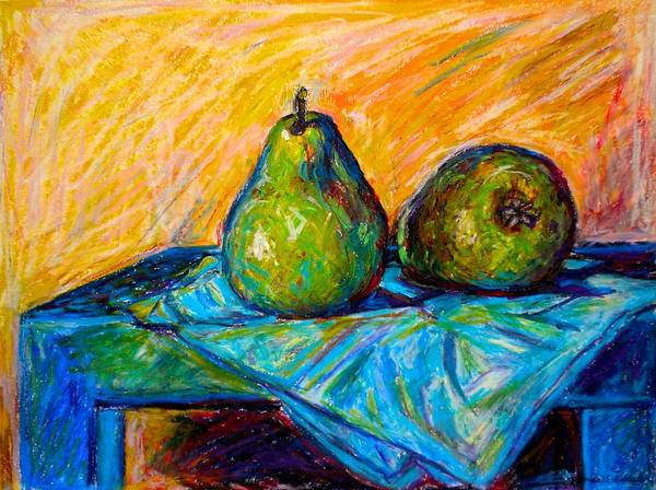 Still Life Art Print featuring the painting Other Pears by Kendall Kessler