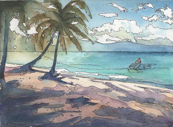 Palm Trees Art Print featuring the painting Palm Cove by Robynne Hardison