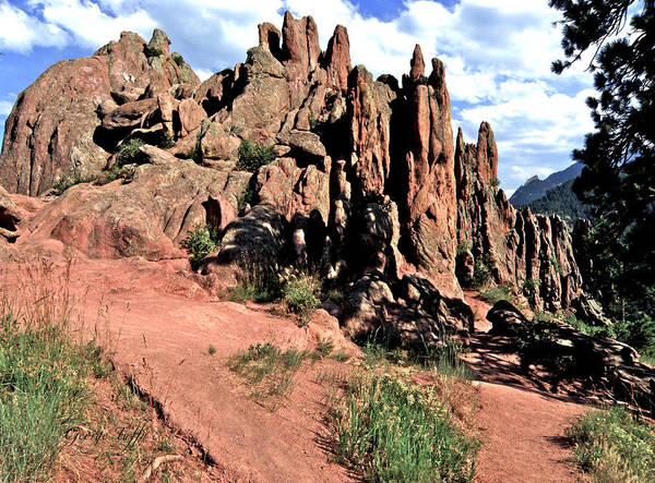 Path Red Rocks Settlers Park Boulder Colorado Rockformations Rocky Mountains Nature Art Print featuring the photograph Path To Red Rocks by George Tuffy