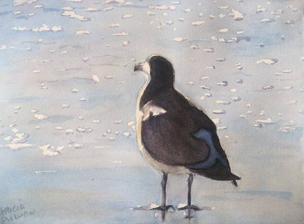 Seagull Art Print featuring the painting Patience by Patricia Pushaw