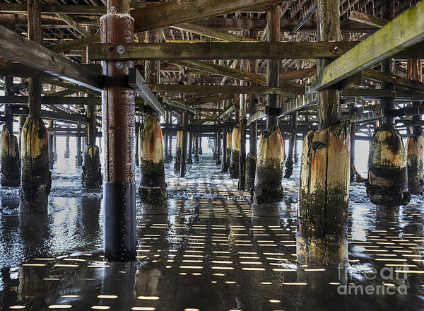 Digital Photography Art Print featuring the photograph Pb Pier by Chuck Lapinsky