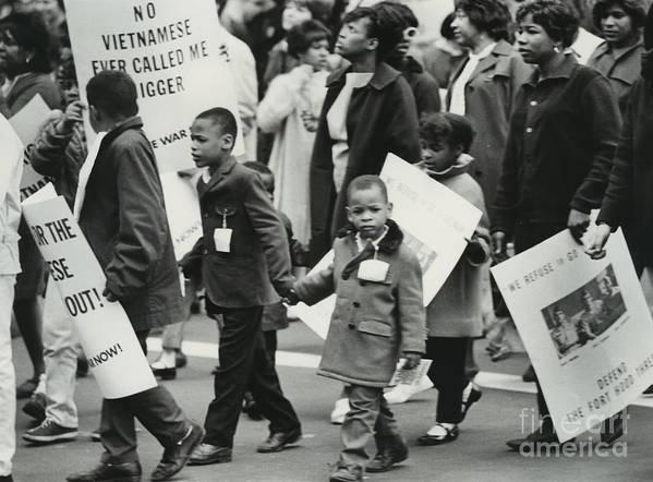 Erik Art Print featuring the photograph Peace Demonstration 1966 by Erik Falkensteen