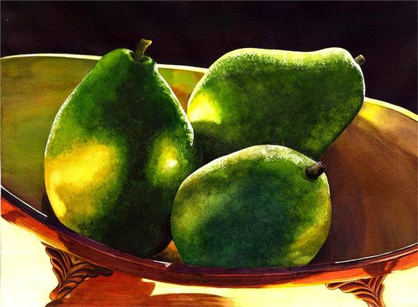 Still Life Art Print featuring the painting Pears No 2 by Catherine G McElroy