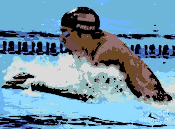 Michael Phelps Art Print featuring the photograph Phelps 2 by George Pedro