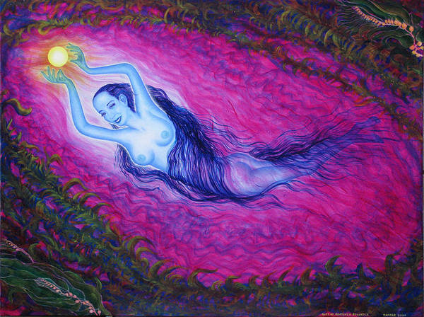 Goddess Art Print featuring the painting Play by Tom Hefko