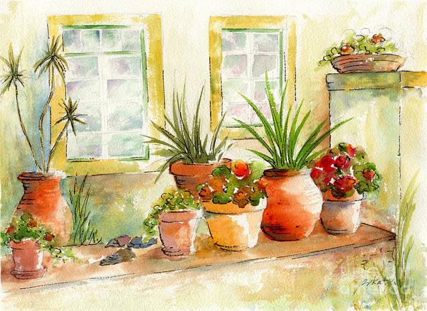Portuguese Planters Art Print By Pat Katz