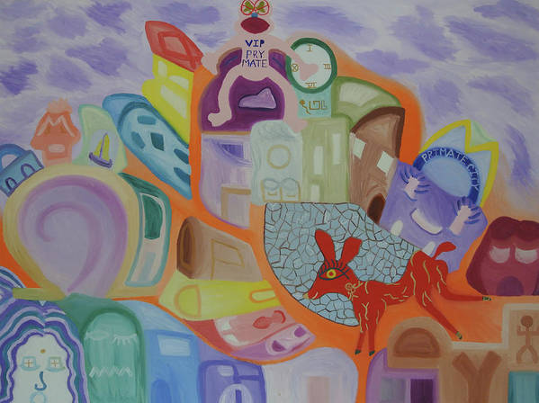 Omega Art Print featuring the painting Powers That Be...alpha And Omega by Adora Miller