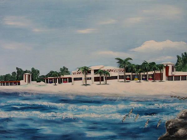 Beach Art Print featuring the painting Praminade At Lido Beach by Mel Stauffer