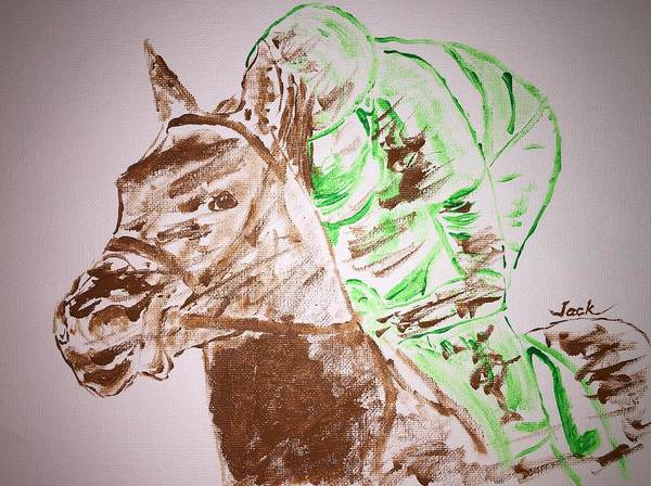 Art Print featuring the painting Preakness '16 by Jack Bunds