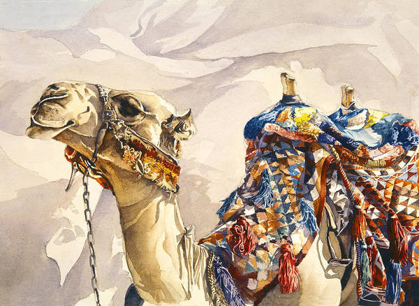 Camel Art Print featuring the painting Prince Of The Desert by Beth Kantor