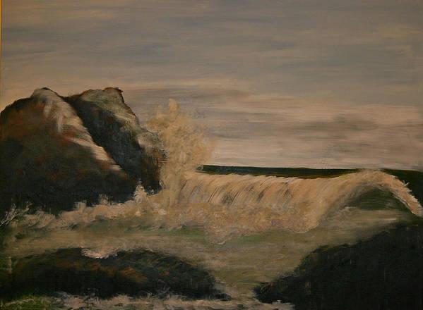 Ocean Art Print featuring the painting Quiet Storm by Gigi Desmond