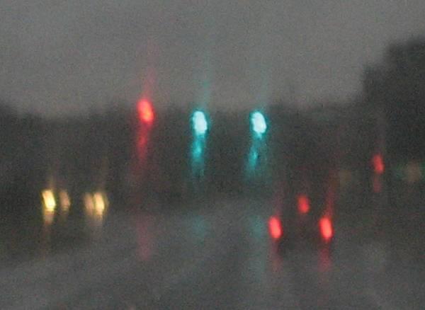 Lights Art Print featuring the photograph Rain 6 by Stephen Hawks