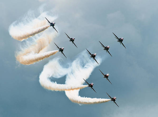 Red Art Print featuring the photograph Red Arrows by Jan Lykke