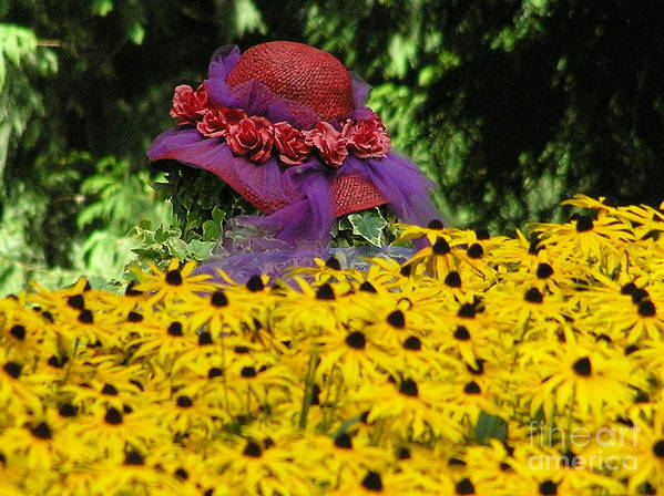 Red Hat Art Print featuring the photograph Red Hat Parade by Louise Magno