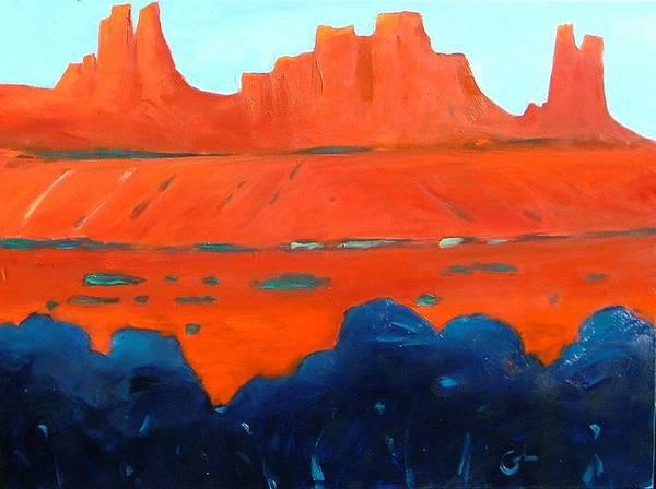 Landscape Art Print featuring the painting Red Sedona by Gary Coleman