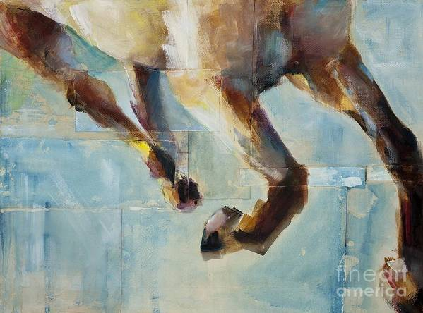 Horses Art Print featuring the painting Ride Like You Stole It by Frances Marino