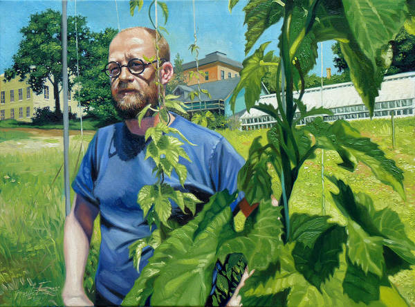 Portrait Art Print featuring the painting Righteous Hops by Gregg Hinlicky