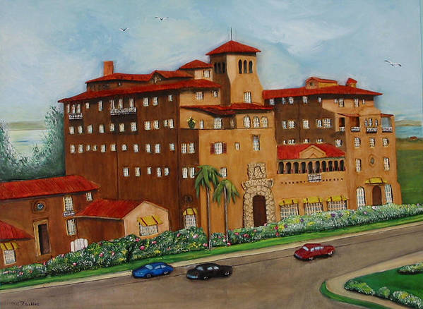 Ringling Art Print featuring the painting Ringling Towers by Mel Stauffer