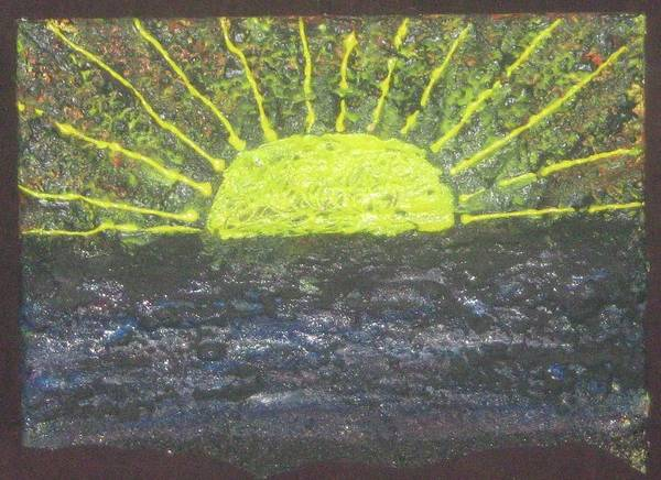 Art Print featuring the mixed media Rising Sun by Jennifer Wall