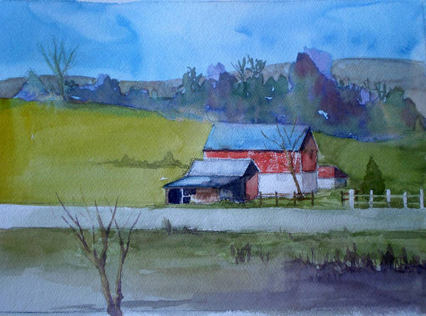 Landscape Art Print featuring the painting Road To Indy by Joe Lanni
