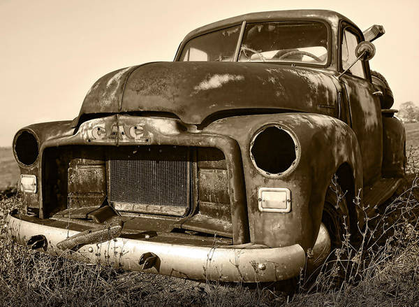 Vintage Print featuring the photograph Rusty But Trusty Old Gmc Pickup by Gordon Dean II