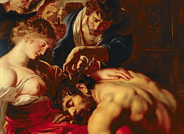 Samson Art Print featuring the painting Samson And Delilah by Rubens