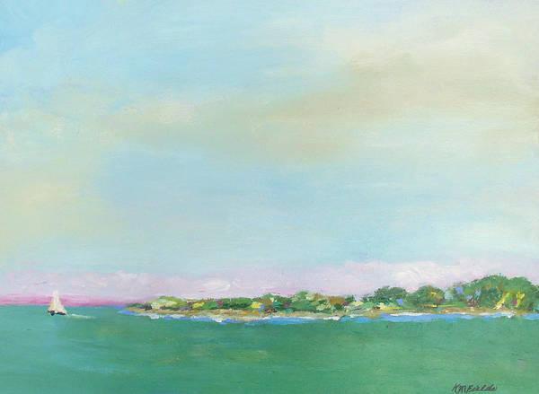 Sailboat Art Print featuring the painting Sanibel Sailboat by Karen Fields