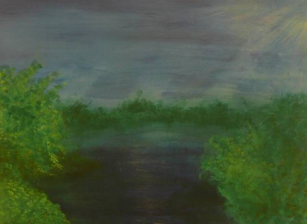 Landscape Art Print featuring the painting Serenity by Jennifer Hernandez