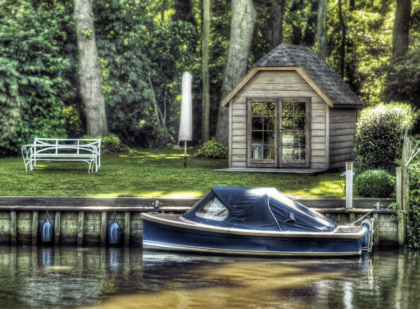 Boat Art Print featuring the photograph Settling by Wim Lanclus