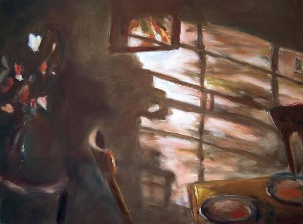 Dornberg Art Print featuring the painting Shadows On The Wall by Bob Dornberg
