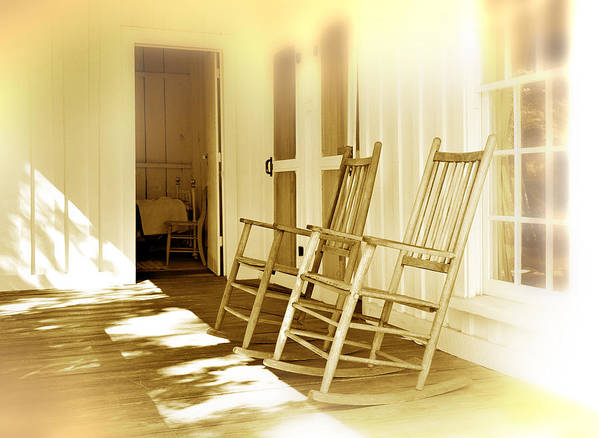 Porch Art Print featuring the photograph Shared Moments by Mal Bray