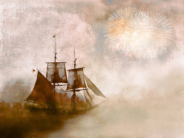 Tall Ships Art Print featuring the photograph She Returns Home by Jeff Burgess