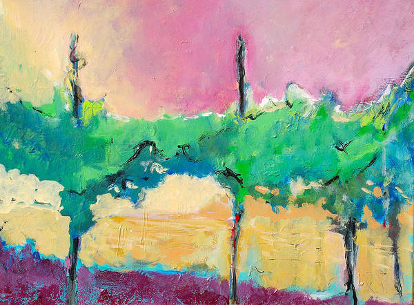 Vineyard Art Print featuring the painting Simpatico by Kurt Hausmann