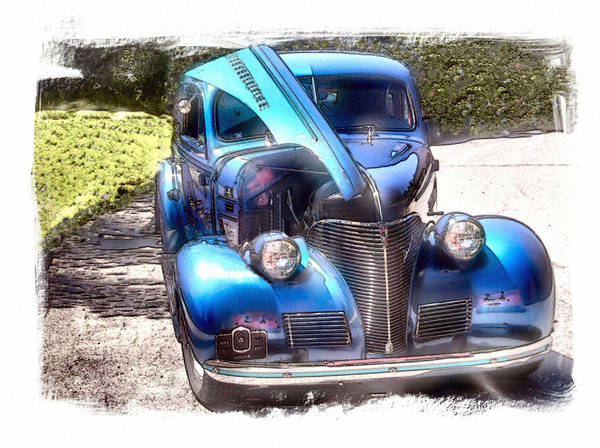 Vehicle Art Print featuring the photograph Singing The Blues by Rose Guay