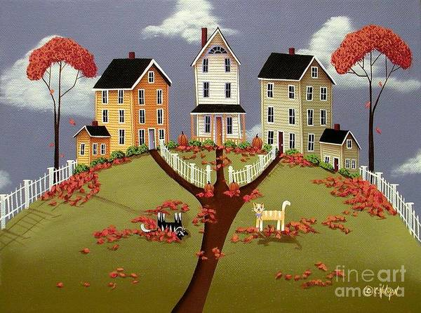 Art Print featuring the painting Snicker And Doodle by Catherine Holman
