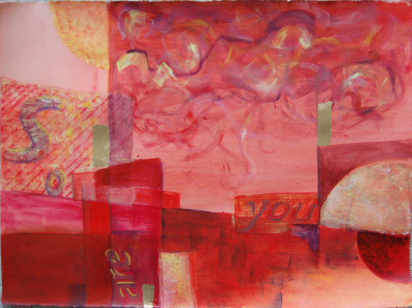 Abstract Art Print featuring the painting So Are You by Kevin Stevens