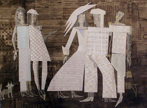 Woman Art Print featuring the mixed media So Don by Kseniya Nelasova