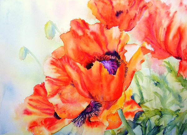 Poppies Art Print featuring the painting Song Of Summer by Ruth Harris