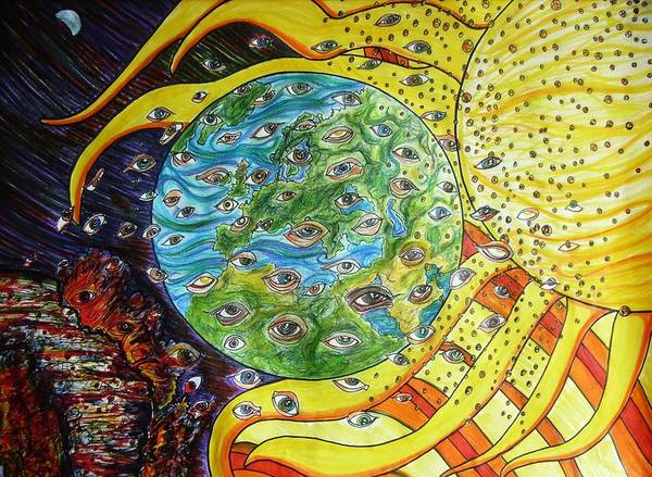Soul Art Print featuring the drawing Soul We Are So We Go by Richard Hubal
