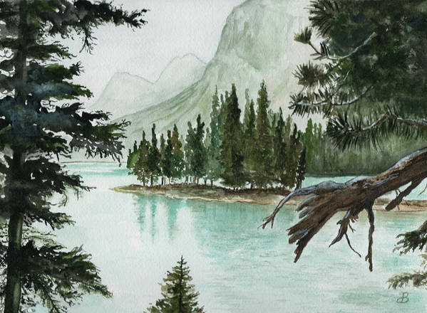 Landscape Art Print featuring the painting Spirit Lake by Brenda Owen