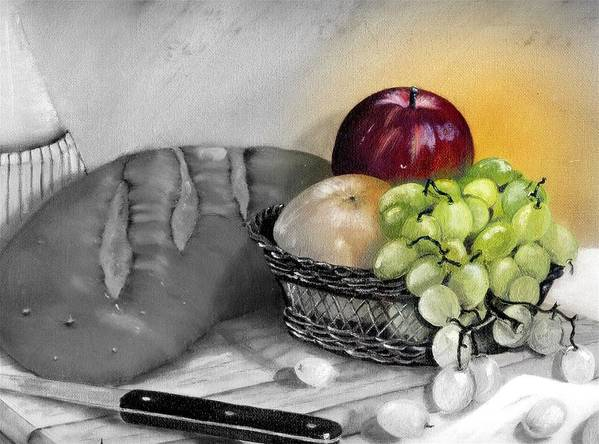 Fruit Art Print featuring the painting Splash Of Color by Penny Everhart