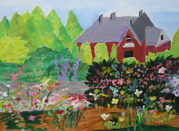 Gardens Art Print featuring the painting Spring Garden by Jeff Caturano