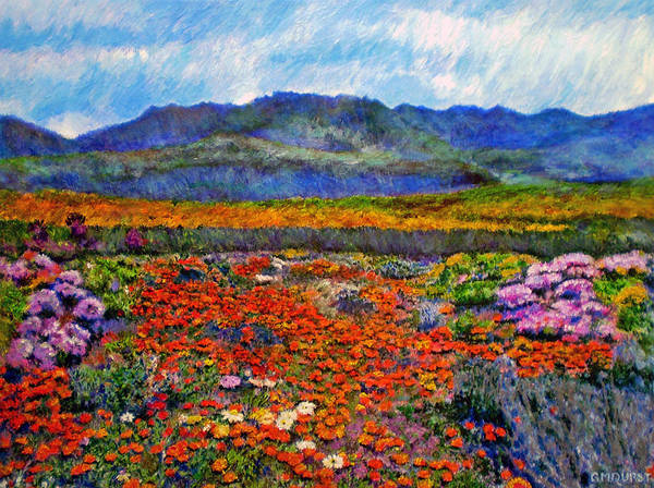 Spring Art Print featuring the painting Spring In Namaqualand by Michael Durst