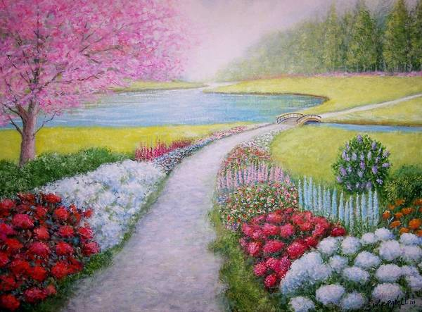 Landscape Art Print featuring the painting Spring by William H RaVell III