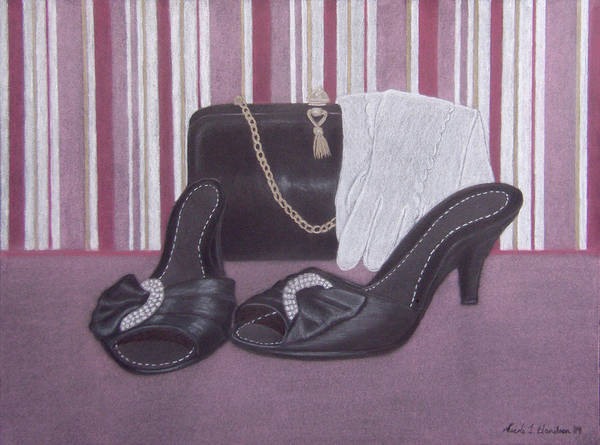 Shoes Art Print featuring the drawing Stepping Out by Nicole I Hamilton