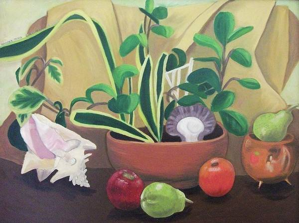 Still Life Art Print featuring the painting Still Alive by Suzanne Marie Leclair