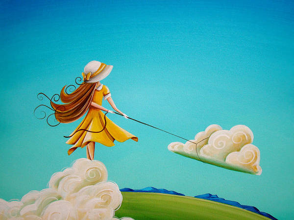 Girl Art Print featuring the painting Storm Development by Cindy Thornton