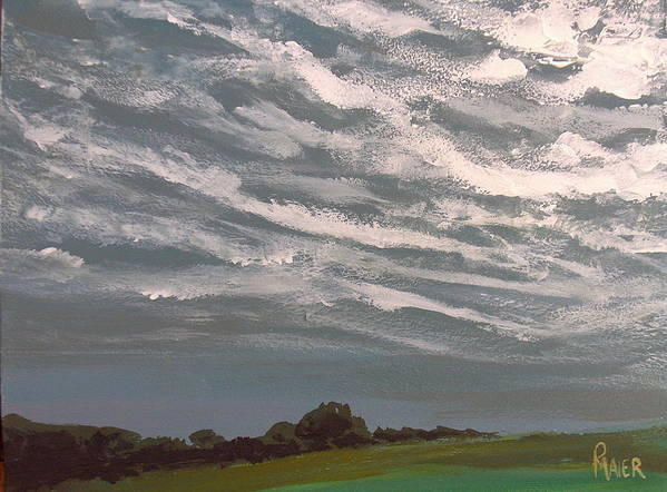 Storm Art Print featuring the painting Storm Front by Pete Maier